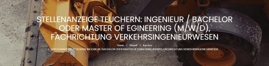 Ingenieur (m/w/d) / Bachelor oder Master of Engineering - Fachrichtung Verkehrsingenieurwesen bei WALTER+PARTNER GbR