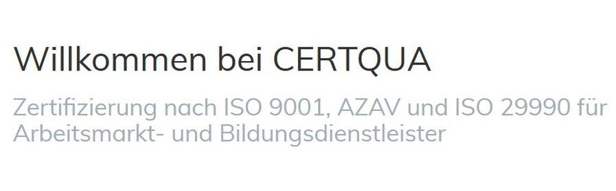Auszubildende(n) zur/zum Kauffrau/Kaufmann für Büromanagement bei CERTQUA GmbH