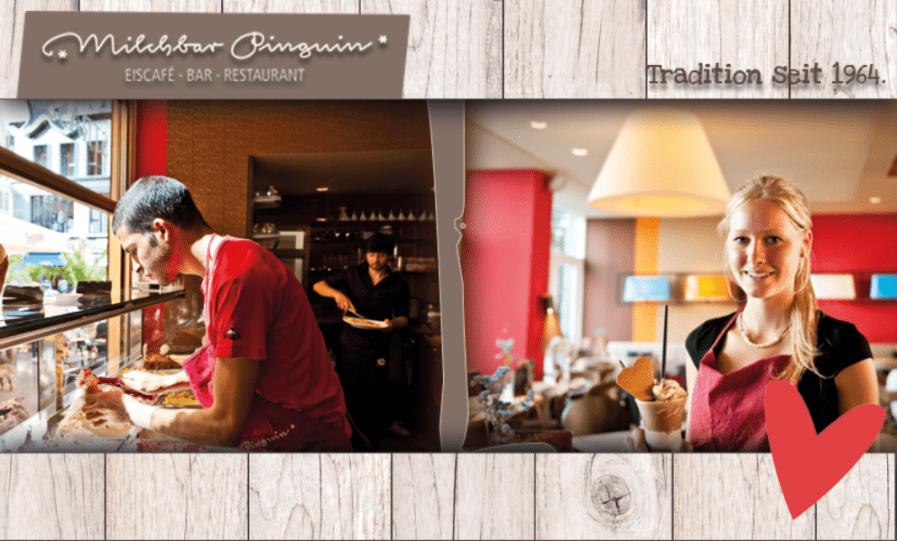 Servicemitarbeiter (m/w/d) Gastronomie bei Milchbar Pinguin