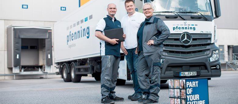 Kraftfahrer (m/w/d)* für die Lebensmitteldistribution gesucht. bei pfenning logistics
